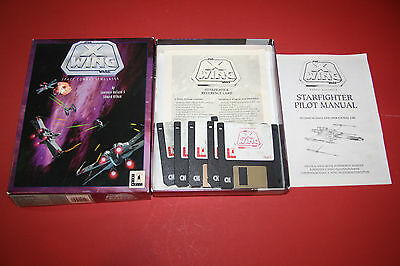 Star Wars X Wing - Vintage PC Video Game Original Software Box