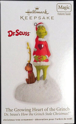 """*2012* Hallmark GRINCH Ornament """"The Growing Heart of the Grinch"""" Dr. Seuss"""