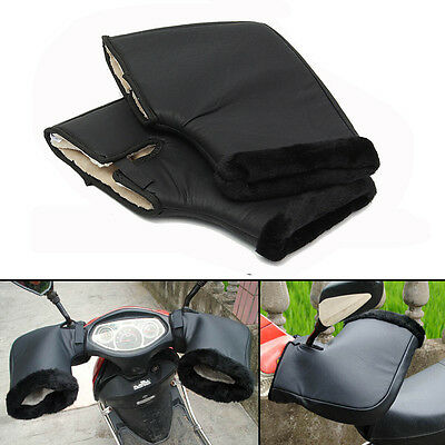 New Waterproof Motorcycle Handle Bar Winter Warm Muffs Protective Thermal Glove