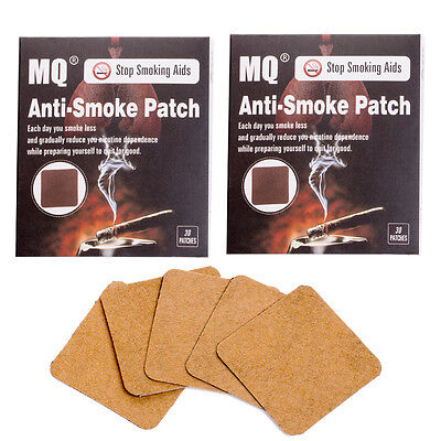 60 Patches MQ Stop Smoking Patch Herbal Nicotine Smoking Cessation Free Quit