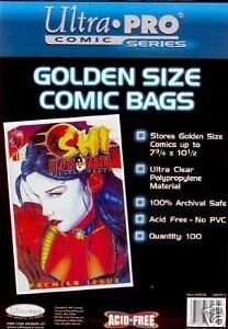 ULTRA PRO Golden Age Pack Of 100 Comic Book Bags ULP81977 Ultra Pro