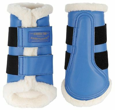 Flextrainer Horse Protection Boots with Fleece Lining Strong Blue - Large