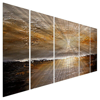 Metal Wall Sculpture Contemporary Abstract Sunset 2 Ocean Beach Art Decor