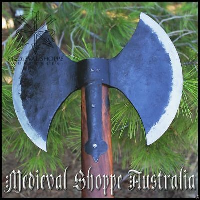 Danish Battle Axe SEE PRODUCT VIDEO Early Medieval Double-Headed Functional Ax