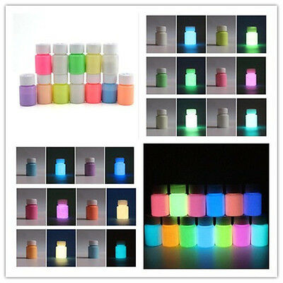 20gGlow in the Dark Pigment Craft  Acrylic Luminous Bright Paint Party Decor DIY