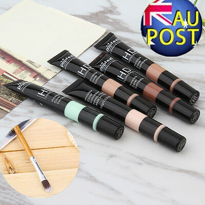 5 Colors Woman Face Contouring Highlighter Concealer Cream + Concealer brush ZP
