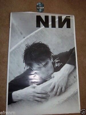 - Nine Inch Nails Signed Poster 1990 Uk Poster Trent In Dreads