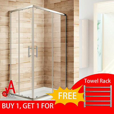 900x1200x1900mm Shower Screen Enclosure Double Sliding Doors Corner Entry