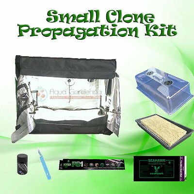 Small Cloning Kit with Grow Tent - Propagator, Lights, Gel, Heat Mat and more