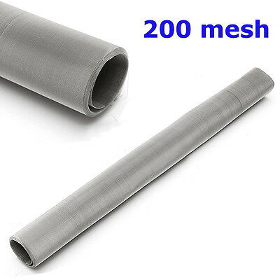200 Mesh 304 Stainless Steel filtration Woven Wire Screen Dry Ice Pollen screen