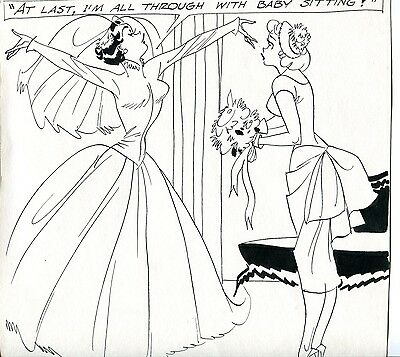 Vintage Adult Cartoon DON FLOWERS  Weddoing and Bride!