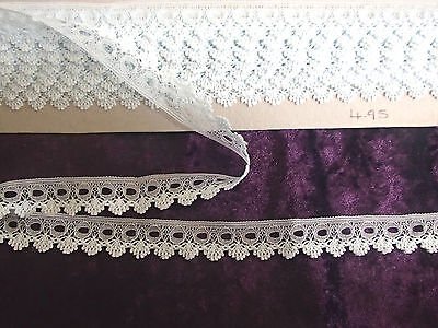 4.95 metres x 20mm wide pale blue single side eyelet/insertion lace