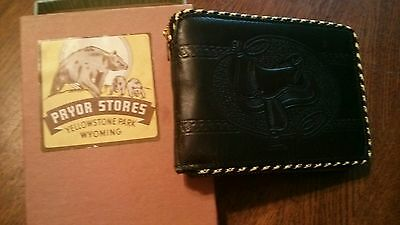 Vintage Yellowstone leather wallet New in box memorabilia