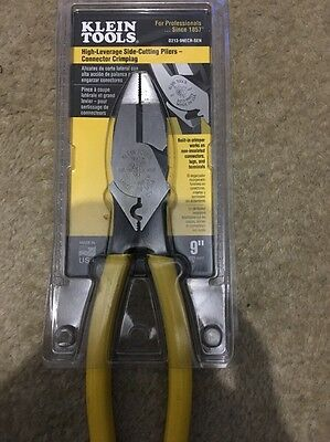 klein High Leverage Side Cutting Pliers Connector Crimping