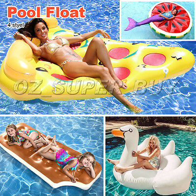 Giant White Swan / Pizza / Watermelon Pool Float Gigantic Inflatable Float AU