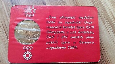 Olympic Coin Sarajevo Los Angeles 1984 uncirculated original packaging BRAND NEW