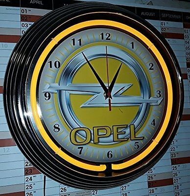 Neon-Uhr Old Opel Sign #2 Wallclock Yellow Neon, Neon Gelb
