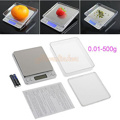 0.01-500g Mini Digital Pocket Scale Electronic Weight Kitchen Food Balance Scale