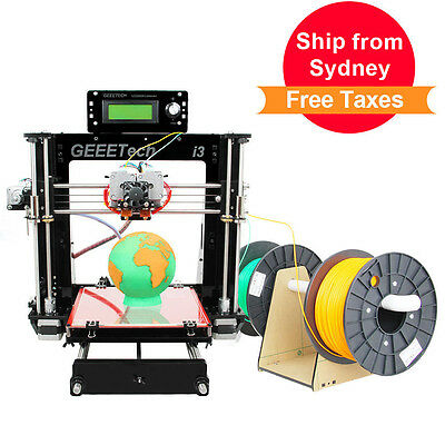 Free ship from AU Geeetech MK8 Dual Extruder Acrylic I3 Prusa 3D Printer GT2560