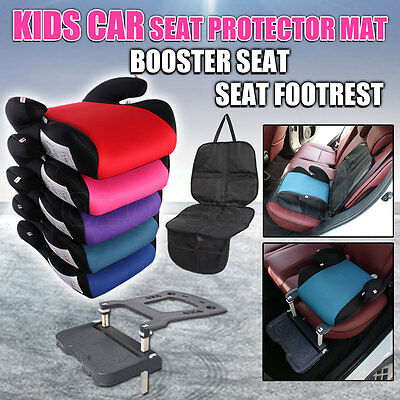 Kids Car Seat Protector Mat Booster Safe Sturdy Footrest Pedal Safety Baby Child