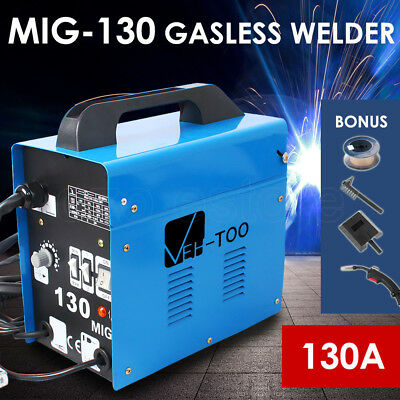 130Amp Welder Inverter MIG Gasless Welding Machine 15A Plug MIG-130 Portable New