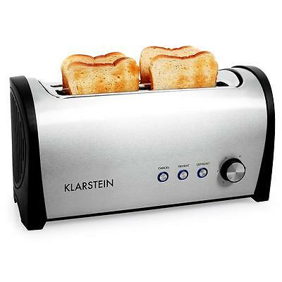 New 4 Slice Toaster 1400W Twin Long Toast Slots Standard Bread With Warming Rack