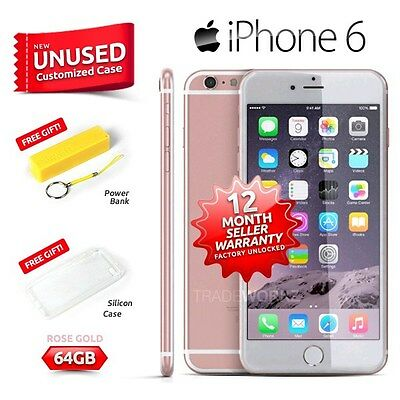 New in Sealed Box Factory Unlocked APPLE iPhone 6 Rose Gold 64GB 4G Smartphone