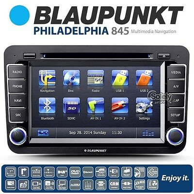 "Blaupunkt Philadelphia 845 7"" Double 2 DIN Car Stereo DVD Player Sat Nav Ready"