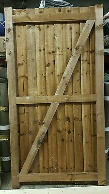 Wooden gate feather edge framed pressure  treated 3ft x6ft