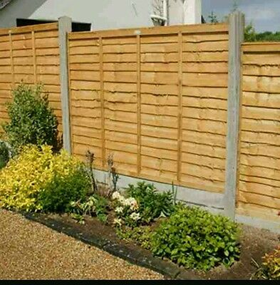 Wooden fence panel/larch lap  waney 6ftx5ft  bargain