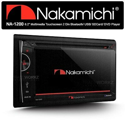 """NAKAMICHI NA1200 6.2"""" HD Screen 2 Double DIN Car DVD Bluetooth Player Stereo"""