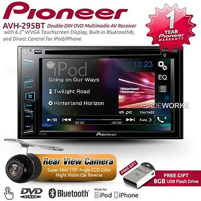 "PIONEER AVH-290BT 6.2"" Double DIN Reverse Camera Car DVD Player Stereo Headunit"