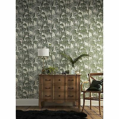 Graham & Brown HONOLULU PALM WALLPAPER 52cmx10m Easy Change, Colourfast *UK Made
