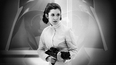 "038 Carrie Fisher - Princess Leia Organa Star War USA Actor 24""x14"" Poster"