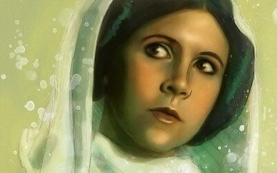 "044 Carrie Fisher - Princess Leia Organa Star War USA Actor 22""x14"" Poster"