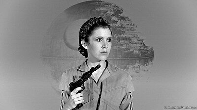"039 Carrie Fisher - Princess Leia Organa Star War USA Actor 24""x14"" Poster"
