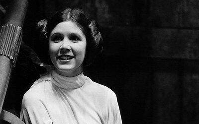 "066 Carrie Fisher - Princess Leia Organa Star War USA Actor 22""x14"" Poster"