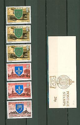 Booklet D29 UK Jersey MNH 6v Coats of Arms