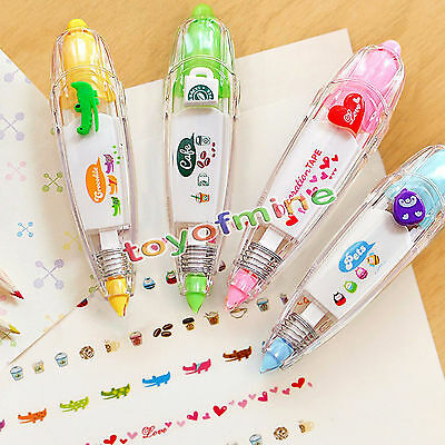 Correction Tape PEN Kid Stationery Decor Tapes Paster Label Tape Sticker Paper B