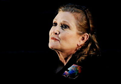 "049 Carrie Fisher - Princess Leia Organa Star War USA Actor 34""x24"" Poster"