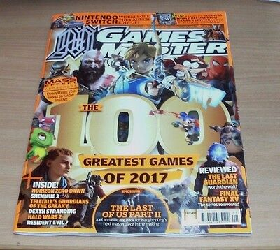 Games Master magazine JAN The 100 Greatest Games of 2017, Last of Us II, Switch