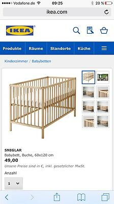ikea hensvik babybett neu und ovp eur 49 00 picclick de. Black Bedroom Furniture Sets. Home Design Ideas