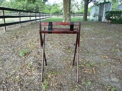 Saddle Stand Saddle Cleaner cherry/brass