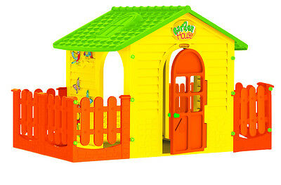 PLAYHOUSE WITH DOUBLE FENCE | - 120x105x120,5 cm