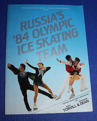 Russia's '84 Olympic Ice Skating Team Program (32 Pages) 335mm(H) x 245mm(W)