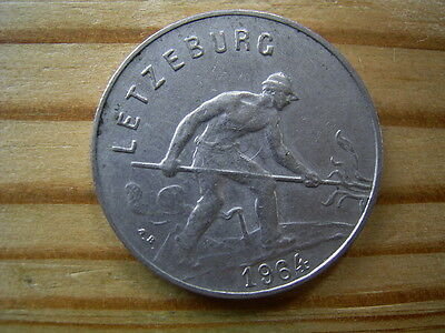 1964  Luxembourg 1 Franc Coin Collectable