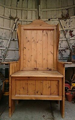 Beautiful Shabby Chic Pitch Pine farmhouse Bench pew Seat Dining Country chair