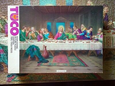 c1950 Tuco Last Supper 1000 pc Jigsaw puzzle Complete
