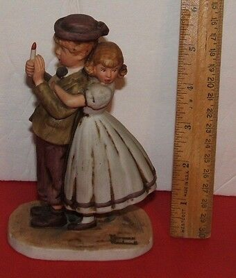 NORMAN ROCKWELL Figurine The Adventures Of Tom Sawyer Lost In A Cave 1978 VTG
