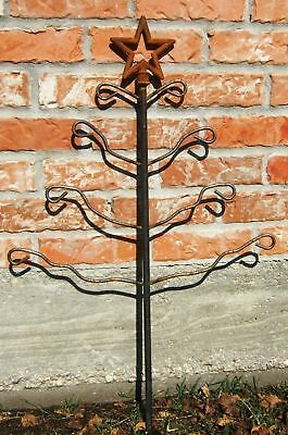 Christmas Tree Star Wiggle Branches Yard Art Steel Usa Garden Decoration Ct002